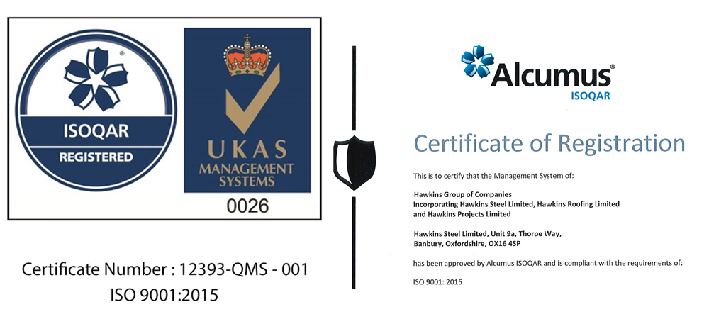 Hawkins Are Awarded The Alcumus Iso 9001 2015